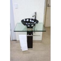 ガラス製洗面ボール、排水栓、排水Sトラップセット。  【商品名】洗面ボウルKOTS-801、排水栓、...