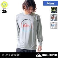 QUIKSILVER/クイックシルバー メンズ 長袖 ラッシュガード Tシャツ ティーシャツ 紫外線カット UVカット UPF30+ 水着 QLY161054