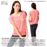 BILLABONG/ビラボン レディース 半袖 Tシャツ ティーシャツ ロゴ ピンク グレー ホワイト 白色 プリント AH013-209