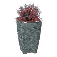 観葉植物 人工 樹木 アザミサボテンロックレッド 高さ220mm 卓上サイズ 鉢:Pスクエア(BK)