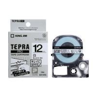 キングジム テプラPROテープカートリッジ キレイにはがせるラベル 白 SS12KE