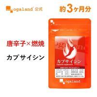 カプサイシン (唐辛子とうがらし) 燃焼 ダイエット プーアール茶末 黒コショウ抽出物 サプリ サプリメント 約3ヶ月分_ZRB