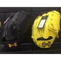 品番:QBB0140 カラー:BLK(黒)、LMN(黄色) 軟式投手用 ※捕球面に油じみありますが、...