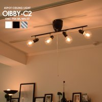 シェードレスのシンプルな4灯スポットライト シーリングライト LED 対応 4畳 6畳 8畳 10畳...
