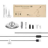 GEECR 顕微鏡 デジタル顕微鏡 高解像度 Micro-USB Type-c USB対応 携帯式顕微鏡 電子拡大鏡 虫眼鏡 最大光学200