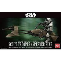 おもちゃ フィギュア 14歳以上 Star Wars Scout Trooper & Speeder Bike 1/12 scale plastic model 正規輸入品