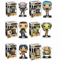 おもちゃ フィギュア 14歳以上 Pop!: Star Wars Rebels Ezra, Kanan, Sabine, Hera, Zeb and Chopper Vinyl Figures! Set of 6 正規輸入品