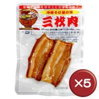 沖縄そばの具の中でももっともポピュラーな具である三枚肉。豚の旨味が凝縮された赤身の味と脂身のまろやか...