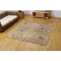 い草 ラグ カーペット 4.5畳 国産 袋織 なでしこ ベージュ 江戸間4.5畳 約261×261cm okitatami