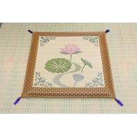 仏前 イグサ 純国産 袋織 い草御+B545:B573前 座布団 蓮の花 約70×70cm|okitatami