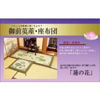 仏前 イグサ 純国産 袋織 い草御+B545:B573前 座布団 蓮の花 約70×70cm|okitatami|03