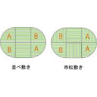 畳 へりなし カラー東レ敷楽彩美 レッド3枚+ブラック3枚 楕円形セット|okitatami|04