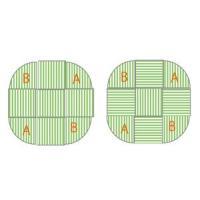 畳 へりなし カラー東レ敷楽彩美 オレンジ2枚+アップルグリーン7枚 楕円形セット|okitatami|04