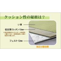 畳 薄畳 ユニット畳 フレア ナチュラル 82×82×2.3cm 4枚1セット 中材:低反発ウレタン+フェルト|okitatami|03