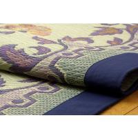 三重織り い草ラグカーペット DXエンティス ブルー 約191×191cm(裏:不織布|okitatami|02