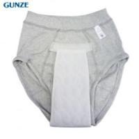 グンゼ モレを吸収する快適パンツ 失禁対策ブリーフグレー LL 3枚セット|okitatami|03