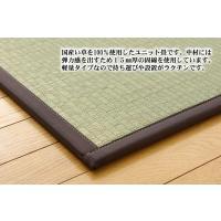 畳 国産 ユニット畳 天竜 ブラウン 82×164×1.7cm 3枚1セット 軽量タイプ okitatami