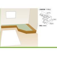 畳 ボックス 収納 高床 ユニット パナソニック NEW 畳が丘 プランNO.15 3.5畳 三方壁納まり+カットフリーボード 送料無料|okitatami