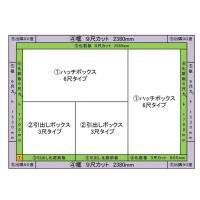 畳 ボックス 収納 高床 ユニット パナソニック NEW 畳が丘 3畳アイランドタイプ 2 ハッチ・引出しタイプ 送料無料|okitatami|02