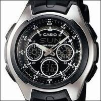 シンプルデザインが魅力のベーシックなモデルのメンズ腕時計です。【型番】AQ-163W-1B1JF【素...