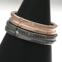 PMR/ピー・エム・アール ダイヤモンド メッセージ ペアリング/指輪/PAIR RM-PMR325DIA-PK-BK