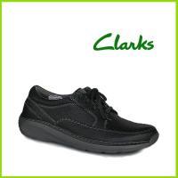 クラークスジャパン Clarks Charton Vibe コンフォートメンズシューズ ●ブラック(...