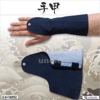 手甲:紺 品質:綿100% マジック式フリーサイズ