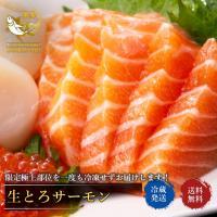 サーモン 刺身 トロサーモン 生とろサーモン 極上 限定部位 のみ使用 400g~500g 敬老の日 ギフト さけ 鮭 鮮魚 寿司 刺身 さしみ 魚 同梱不可
