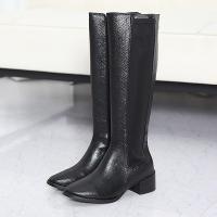 ロングブーツ レディース サイドゴア 太ヒール チャンキーヒール ファッション 靴 婦人靴  素材:...