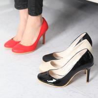 パンプス レディース ハイヒール ピンヒール ファッション 靴 婦人靴  素材:合成皮革/エナメル調...