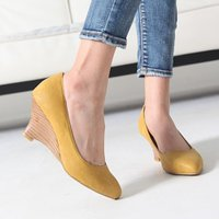 走れるパンプス パンプス レディース ウェッジヒール ウェッジソール ファッション 靴 婦人靴  素...