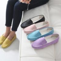 フラットシューズ レディース モカシン ペタンコ パステル カラー ファッション 靴 婦人靴  素材...