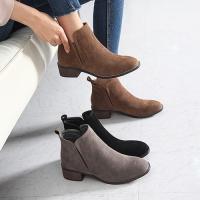 ショートブーツ レディース スエード調 ローヒール ブーツファッション 靴 婦人靴 30代 40代 ...