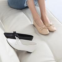 フラットシューズ レディース ペタンコ リボン シンプル ファッション 靴 婦人靴  素材:合成皮革...