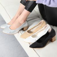 パンプス レディース チャンキーヒール 太ヒール ファッション 靴 婦人靴  素材:合成皮革 原産地...