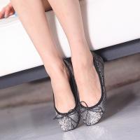 フラットパンプス レディース ペタンコ リボン パイソン柄 ファッション 靴 婦人靴  素材:合成皮...