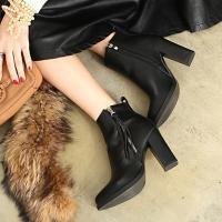ブーティ 黒 ブーティー レディース ショートブーツ ブラック ブーツ 靴 レディース ファッション...