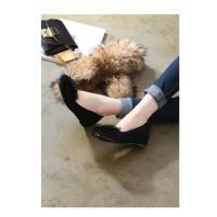 歩きやすいパンプス ファー フラットシューズ パンプス  フラットパンプス 裏起毛 ラビットファー ペタンコパンプス 40代 靴 レディース 女性用