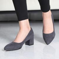 走れるパンプス チャンキーヒール 太ヒール ポインテッドトゥ ファッション レディース 靴 婦人靴 ...