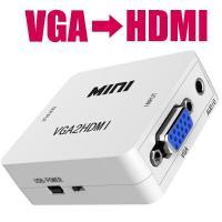 VGA入力からHDMI出力へ変換 できる!! コンパクト コンバーター 変換器  【状態】 ご覧頂き...