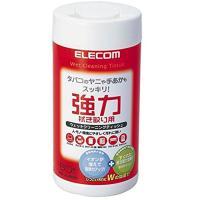 ELECOM 強力タイプウェットクリーニングティッシュ60枚入り WC-JU60N