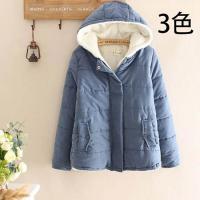 レディース 中綿 コート ジャケット アウター 無地 フード付き 冬 暖かい 軽い 裏起毛 女子高校生 ファッション 大きいサイズ