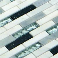 ◆ 重厚感のある輝きと質感が美しいガラス・大理石のモザイクタイルシールです。 ◆ 超強力な粘着力で早...