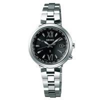 セイコー ルキア SSVV019 レディース 腕時計 コンフォテックス 黒文字盤 SEIKO ソーラー電波時計 新品|oomoritokeiten