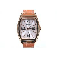 セイコー ルキア レディース 腕時計 SSVW032 ピンクゴールド ワニ革バンド SEIKO ソーラー電波時計 新品|oomoritokeiten|02