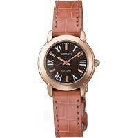 セイコー エクセリーヌ SWCQ042 レディース 腕時計 ピンクゴールド クロコダイル SEIKO ソーラー時計 新品|oomoritokeiten