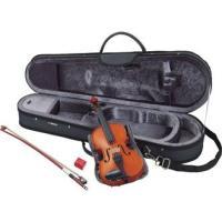 バイオリン初心者におすすめのクリアで明るい音色。天然木の削り出し製法とオイルニス仕上げを採用し、全弦...