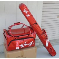 PURETEC 風斬 ライトへらバッグ 3点セット 赤 バッグ  サイズ: 内寸 48×29×30c...