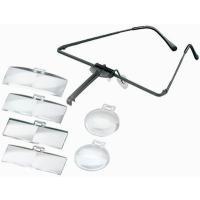 眼鏡のように耳にかけて使います軽合金フレームだから、軽いかけ心地お持ちの眼鏡の上に重ねても使えますア...