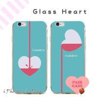 iPhone6,iPhone6 Plus ケース カバー/Glass Heart ペアケース TPU...